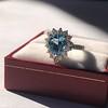 3.30ctw Aquamarine and Diamond Cluster Ring 38