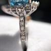 3.30ctw Aquamarine and Diamond Cluster Ring 28