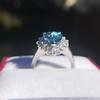 3.30ctw Aquamarine and Diamond Cluster Ring 20