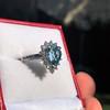 3.30ctw Aquamarine and Diamond Cluster Ring 7