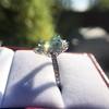 3.30ctw Aquamarine and Diamond Cluster Ring 27