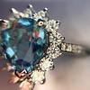 3.30ctw Aquamarine and Diamond Cluster Ring 33