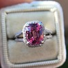 3.55ct (est) Pink Sapphire Halo Ring, AGL Minor Heat Treatment 0