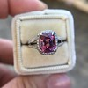 3.55ct (est) Pink Sapphire Halo Ring, AGL Minor Heat Treatment 6