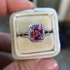 3.55ct (est) Pink Sapphire Halo Ring, AGL Minor Heat Treatment 2