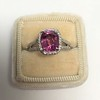 3.55ct (est) Pink Sapphire Halo Ring, AGL Minor Heat Treatment 22