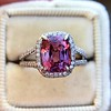 3.55ct (est) Pink Sapphire Halo Ring, AGL Minor Heat Treatment 13