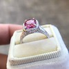 3.55ct (est) Pink Sapphire Halo Ring, AGL Minor Heat Treatment 9