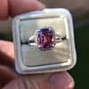 3.55ct (est) Pink Sapphire Halo Ring, AGL Minor Heat Treatment 1