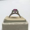3.55ct (est) Pink Sapphire Halo Ring, AGL Minor Heat Treatment 21