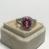 3.55ct (est) Pink Sapphire Halo Ring, AGL Minor Heat Treatment 24