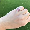 3.55ct (est) Pink Sapphire Halo Ring, AGL Minor Heat Treatment 20