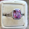 3.55ct (est) Pink Sapphire Halo Ring, AGL Minor Heat Treatment 10