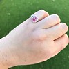 3.55ct (est) Pink Sapphire Halo Ring, AGL Minor Heat Treatment 15
