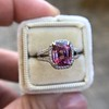 3.55ct (est) Pink Sapphire Halo Ring, AGL Minor Heat Treatment 8