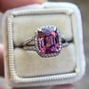 3.55ct (est) Pink Sapphire Halo Ring, AGL Minor Heat Treatment 5