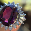 3.85ct Tourmaline & Diamond Spray Ring 10