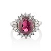 3.85ct Tourmaline & Diamond Spray Ring 0