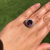 3.85ct Tourmaline & Diamond Spray Ring 17