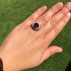 3.85ct Tourmaline & Diamond Spray Ring 20