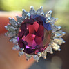 3.85ct Tourmaline & Diamond Spray Ring 5
