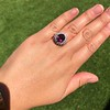 3.85ct Tourmaline & Diamond Spray Ring 15