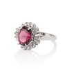3.85ct Tourmaline & Diamond Spray Ring 1