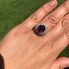 3.85ct Tourmaline & Diamond Spray Ring 16