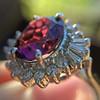 3.85ct Tourmaline & Diamond Spray Ring 14