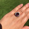 3.85ct Tourmaline & Diamond Spray Ring 19