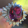 3.85ct Tourmaline & Diamond Spray Ring 12