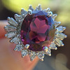 3.85ct Tourmaline & Diamond Spray Ring 7