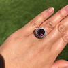 3.85ct Tourmaline & Diamond Spray Ring 18
