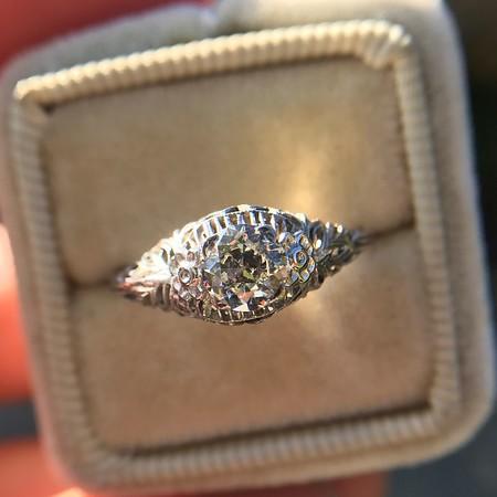 .50ct Old European Cut Diamond Filigree Solitaire