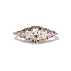 .50ct Old European Cut Diamond Filigree Solitaire 0