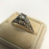 .50ct Old European Cut Diamond Filigree Solitaire 18