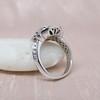 Art Deco Inspired Princess Cut Diamond Halo Ring 6