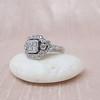 Art Deco Inspired Princess Cut Diamond Halo Ring 5