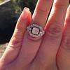 Art Deco Inspired Princess Cut Diamond Halo Ring 17