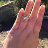 Art Deco Inspired Princess Cut Diamond Halo Ring 16
