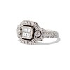 Art Deco Inspired Princess Cut Diamond Halo Ring 1