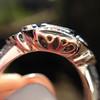 Art Deco Inspired Princess Cut Diamond Halo Ring 13