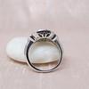 Art Deco Inspired Princess Cut Diamond Halo Ring 7
