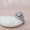 Art Deco Inspired Princess Cut Diamond Halo Ring 9