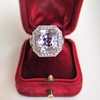 8.40ct Light Pink Purple Sapphire Halo Ring 1