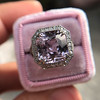 8.40ct Light Pink Purple Sapphire Halo Ring 22