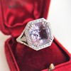 8.40ct Light Pink Purple Sapphire Halo Ring 9