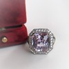 8.40ct Light Pink Purple Sapphire Halo Ring 11