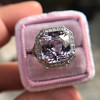 8.40ct Light Pink Purple Sapphire Halo Ring 3