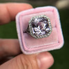 8.40ct Light Pink Purple Sapphire Halo Ring 26